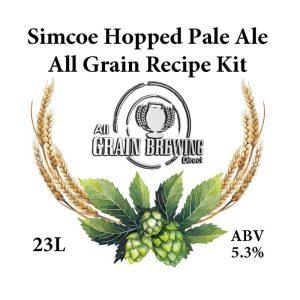 Simcoe Hopped Pale Ale All Grain Recipe Kit