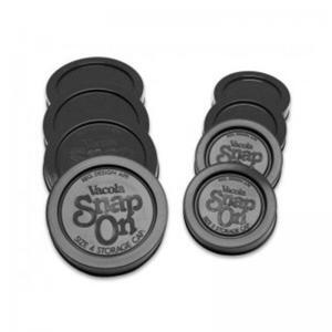 Fowlers Vacola - Snap On Caps Size 3 (Black) - 4 Pack