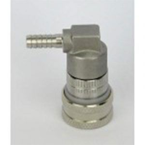 S/S Ball Lock Keg Disconnect - Gas - Barb Fitting