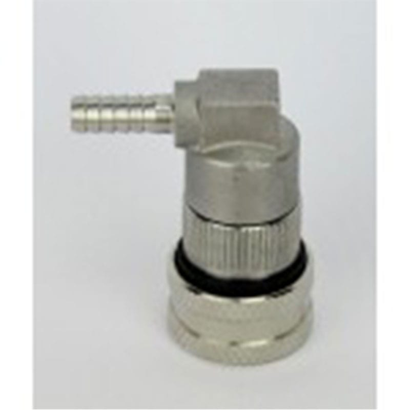 S/S Ball Lock Keg Disconnect - Liquid - Barb Fitting
