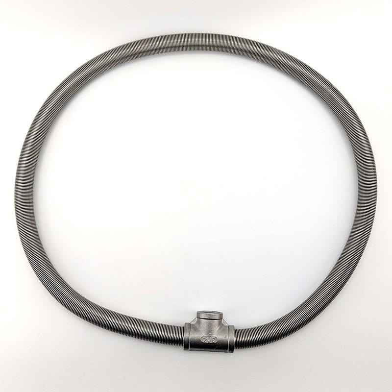 Lauter Helix Coil - 1m Stainless Steel with Tee
