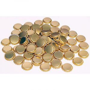 Crown Seals Gold - Beer - 100 Pack