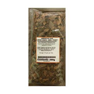 American Oak Chips Medium Toast - 200g