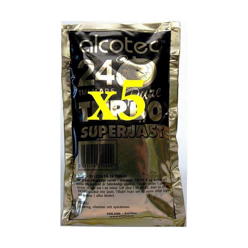 5 x Alcotec 24 Turbo Yeast Value Pack