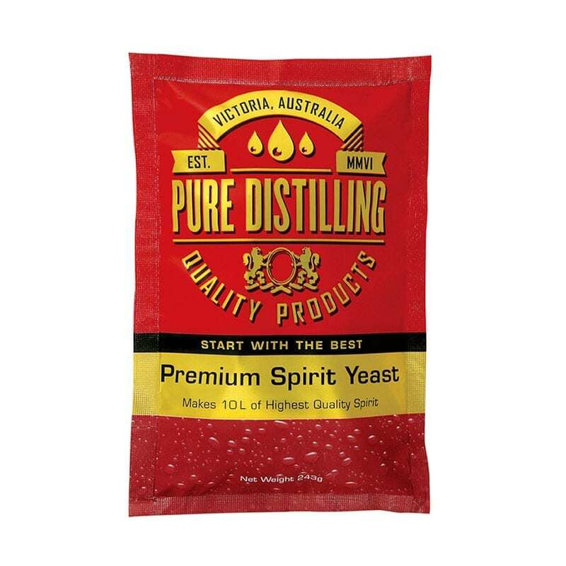 Pure Distilling Premium Spirit Yeast & Crystal Clear