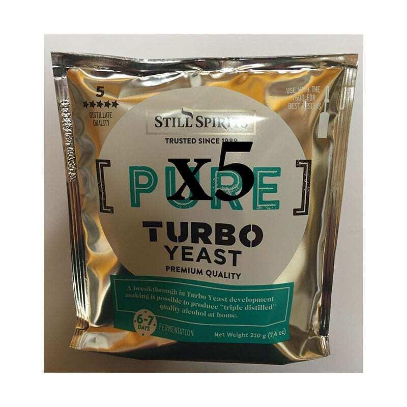 5 x Still Spirits Pure Turbo Yeast Value Pack