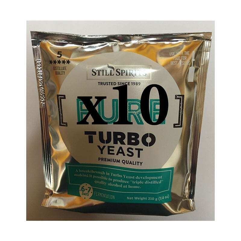 10 x Still Spirits Pure Turbo Yeast Value Pack