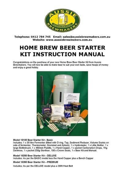 Home Brew Beer Starter Kit