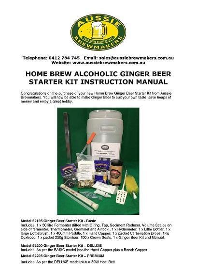 Home Brew Alcoholic Ginger Beer Starter Kit