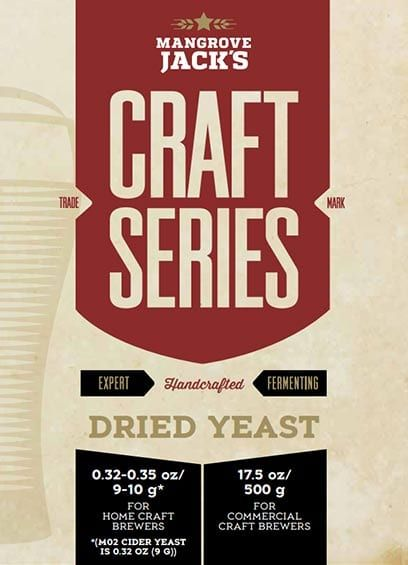 Mangrove Jack's Craft Series Beer Yeast Guide