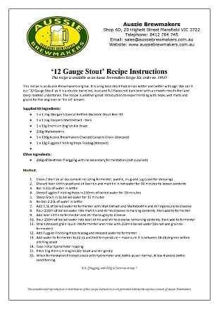 12 Gauge Stout