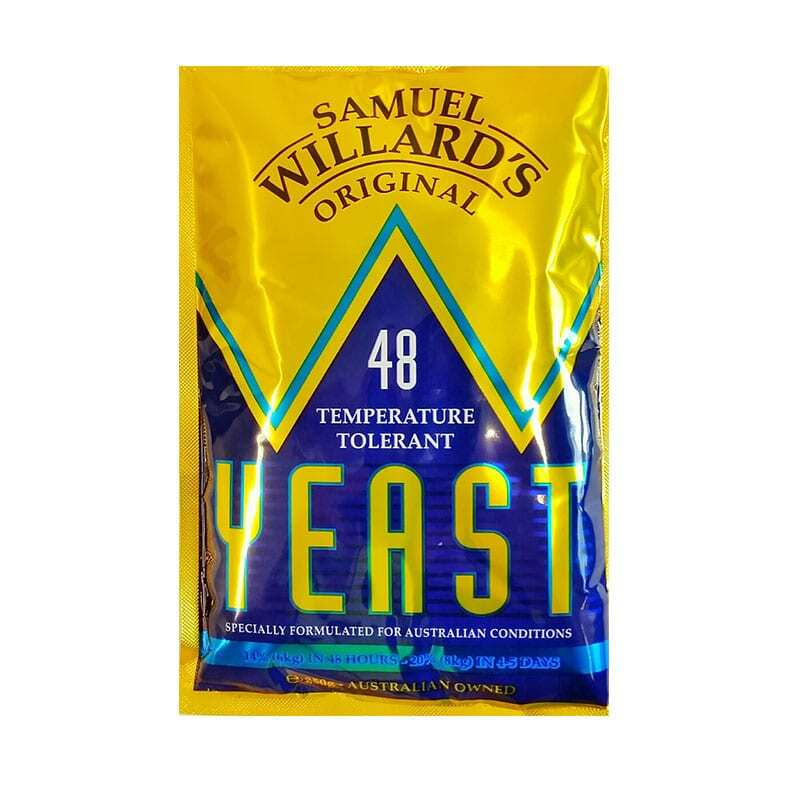 Samuel Willards 48 hour Temperature Tolerant Turbo Yeast