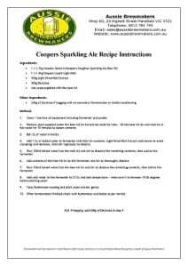 Coopers Sparkling Ale Recipe 2