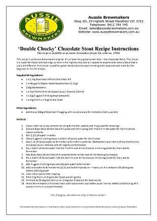 Double Chocky Chocolate Stout
