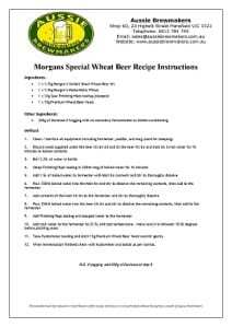 Morgan's Special Wheat Beer-212x300