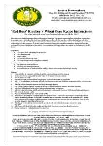 Red Ross Raspberry Wheat Beer-212x300
