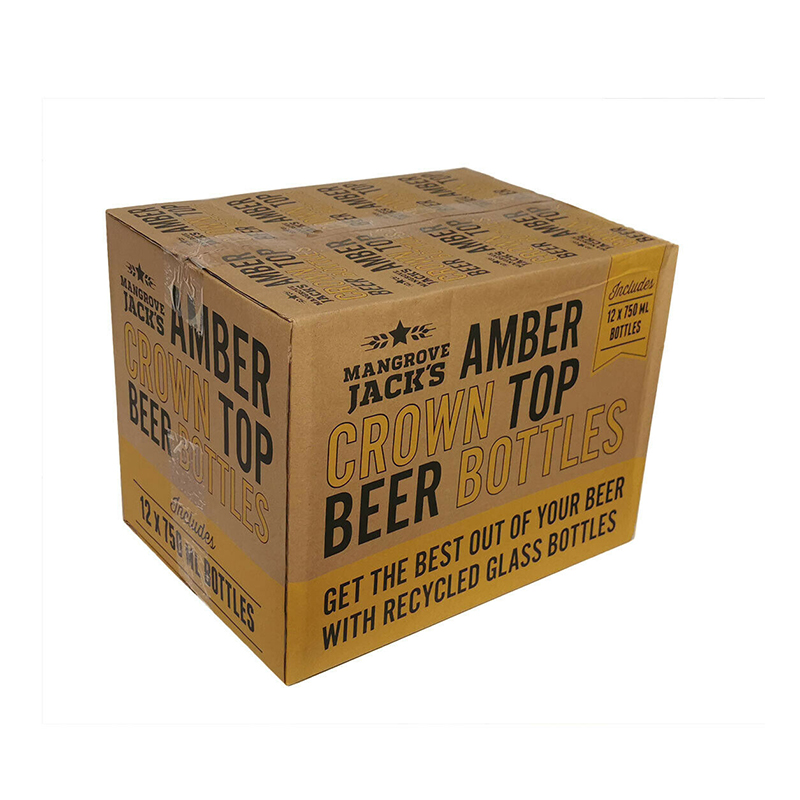 750ml Amber Crown Seal Bottles Boxed - Mangrove Jacks
