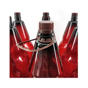 Amber PET bottles 2.5L Pack of 9 with screw caps and handle