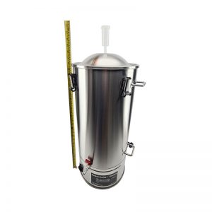 35L SS Bucket Buddy Fermenter with Integrated Heating Element Height