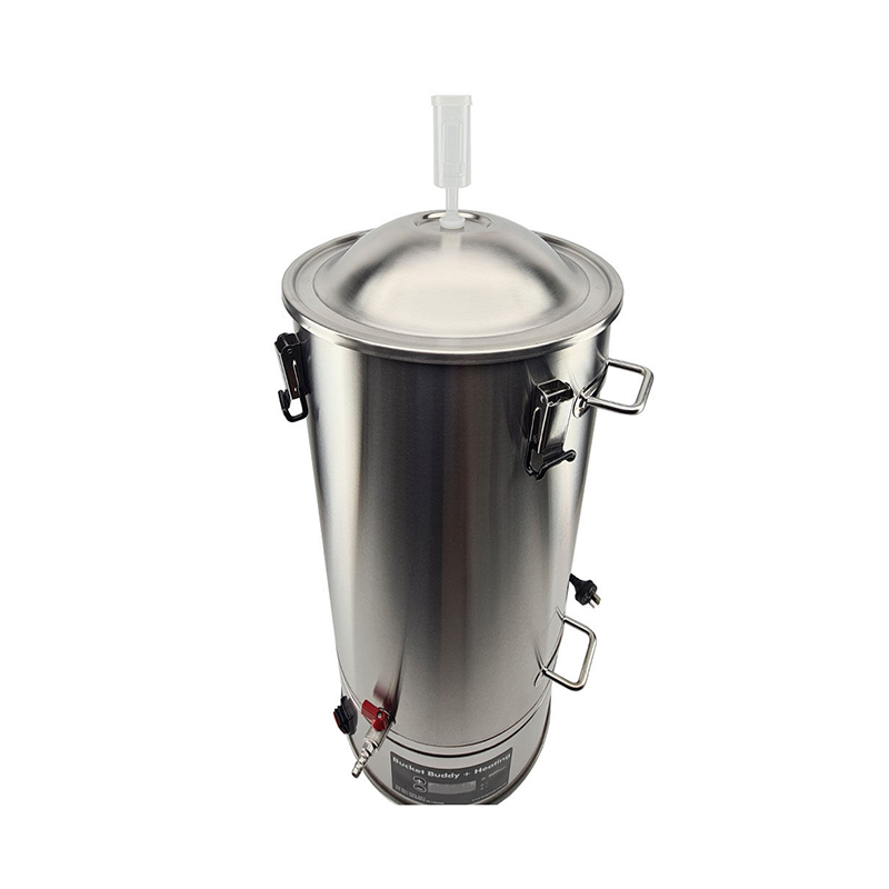 35L SS Bucket Buddy Fermenter with Integrated Heating Element Top View