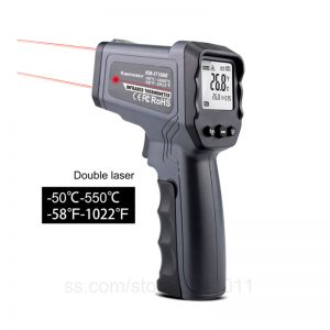 Double Laser Infrared Thermometer Gun 50°C to 550°C